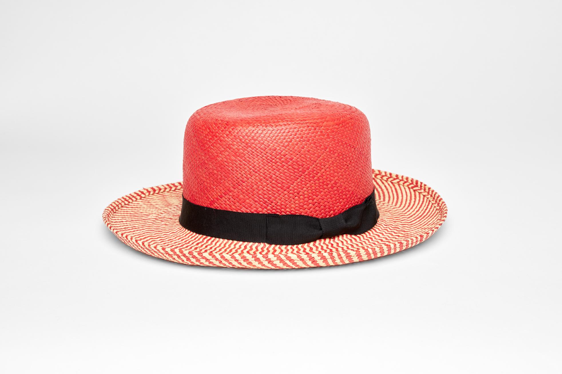 d1171f36340 Anthony Peto – Hobo in red zig zag Panama – €170
